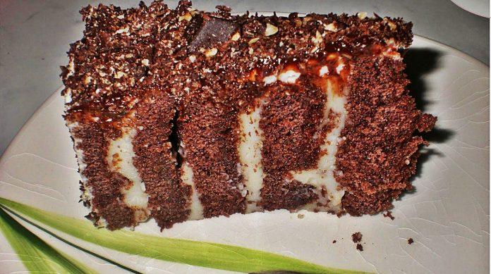 Çikolatalı Şerit Pasta Nasıl Yaplır